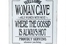 Women Cave/She Shed Ideas / Because women deserve a space that's all their own just like men do with their man caves!