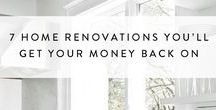 Home Renovations / Thinking of remodeling your home? Before you get started, check out these inspiring ideas and smart tips for home renovations and makeovers from the home .