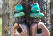 Jewelry - Sedona / Inspired by horses (leather tack and silver stirrups) and the Southwest, featuring silver, copper, turquoise, and leather.