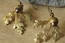 Jewelry - Harvest / Warm, autumnal tones with copper and silver, leaves, berries, and acorns.