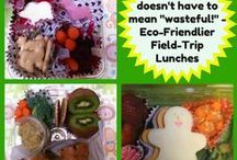 Field Trip (Disposable) Lunch Boxes / What? Throw it away?? Hey, you know my EasyLunchboxes are REUSABLE and that's best for the environment, but what about those times when you HAVE to pack a disposable lunch for a field trip or whatever? Start saving those odd-ball plastic containers! Here are some creative, eco-friendly ideas, recycling what would have gone in the trash anyway :) / by EasyLunchboxes