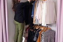 Tiny Apt, Tinier Closet / How to make the most out of your small closet space.