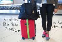 Travel & Packing Wardrobe Tips / Tips on how to efficiently pack your suitcase with outfits you'll actually want to wear