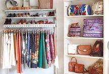 Dorm Closet / Ideas on how to style and organize your dorm closet. A pretty closet makes your room feel more like home!