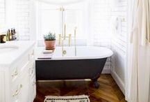Bathtime / Bathroom and laundry room inspiration / by Kate Updegrove