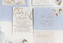 Paper / Invitation suites, calligraphy, and paper goodies