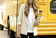 Teacher Style / Stylish back to school outfit ideas for fashionable teachers