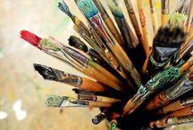 """Creative studio / """"Creativity is Intelligence Having Fun."""" Albert Einstein / by Claudia Trautwein"""
