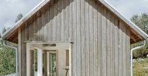 Moderní chaty a inspirace dřevěných obkladů