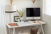 Home Office Inspiration / Pretty spaces for work-at-homers like me! / by AllieRuth