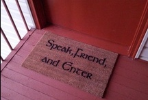 """{home} / """"speak friend, and enter ..."""" -LOTR / by Jillian M."""