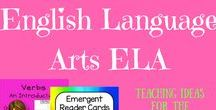 ** English & Literacy Primary Teaching ** / English language arts ELA teaching resources including activities, lessons, unit plans and printables to teach English literacy, writing, grammar and reading.