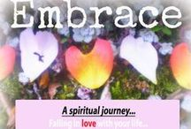 'Embrace' Ecourse (by me - Jane Hinchliffe) / Embrace - falling in love with your life....   Embrace is a self paced, instant download  e-course which explores various aspects of our lives with practical and spiritual ideas for instilling wonder, beauty, love, joy and gratitude on a regular basis. The content will include full video art tutorials, how-to-photos, journal prompts, photography etc. https://www.etsy.com/listing/181715067/embrace-online-workshop-work-at-your-own?ref=shop_home_feat_1