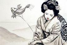 леди традиционный кит рисунок