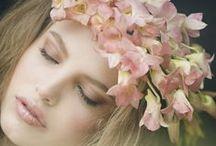 женщины и цветы