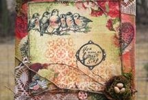 Vintage Bird Samples / Bird Projects Using Clear Art Stamps and/or Crafty Secrets Vintage Images / by Crafty Secrets