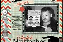 Barber Shop, Mustaches, Moustache Stu / This will be a Gallery for any mustache - barber shop theme samples and projects created with our products. We have a New Barber Shop Digital Kit for $10.99 and Mustache Men Digital Art Stamp Set  for $9.99.  Our Mustache Men Clear Art Stamp Set has sold out and become a digital stamp set now. The bonus - the images are larger and a low price for high resolution 300 dpi/ppi vintage art!  We are joining Movember.com to help raise money for prostate cancer and moustache's are their theme! / by Crafty Secrets