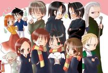 Harry Potter and other books / by Amanda Saldaña