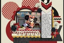 Disney Papercrafts / Scrapbooking ideas celebrating the Happiest Place on Earth - Disneyland!