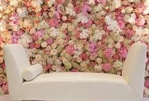 Weddings | Backdrops / Every wedding is beautiful, but having a gorgeous backdrop for guests photos will make the whole event just that notch better! We're massive lovers of flower walls because what could be better than flowers? Maybe sequins? Or paper cranes? Ooh there are so many options!