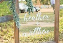 Weddings | Signage