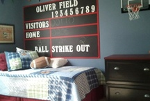 Ollie's Sports Theme Bedroom / Just collecting ideas for Ollie's remake in July / by Kathy Hayes
