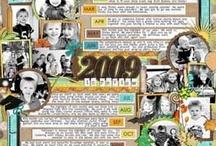 52/1 Év-összefoglaló oldalak/Year in review layouts / Készíts összefoglaló oldalt az elmúlt évedről! Meríts ötleteket inpsirációs mappánkból. Kapcsolódó cikkünket itt találod: http://www.scrapbook.hu/2012/12/31/hogyan-foglald-oldalba-az-elmult-evet/