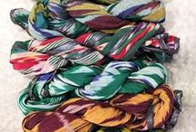 Scarves textures. / by Caroline Shaw Fashion Styling
