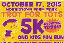 Play & Learns' Trot for Tots 5K and Kids Fun Run / Play & Learn will be hosting the First Annual Trot for Tots 5K and 1 Mile Kids Fun Run at the beautiful Norristown Farm Park. This event is great for the whole family! There will be medals for the top overall finishers and age category winners, post-race refreshments, an interactive Kid's Fun Zone complete with music, games and prizes courtesy of Radio Disney, face painting, potato sack races, arts and crafts, ice cream and more great activities for the kids.