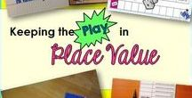 Place Value / Place value resources and activities from first through 4th grade