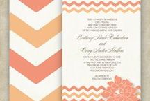 WEDDINGS: Invites, Programs, Save the Dates & more / Wedding Stationary designs from the Allison LeAnn Design Etsy Shop and other lovely sites.  View more designs at www.AllisonLeAnnDesign.Etsy.com