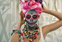 make-up & Sugar Skull smink