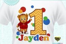 Daniel Tiger Party / Daniel Tiger Party Printables for Kids Birthday Parties. Custom Daniel Tiger party invitations and tshirt decals. Lots of Birthday party Printables to choose from!