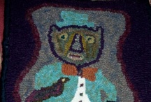 My Mom's a hooker! / Primitive rug hooking. She cuts & dyes the wool herself and comes up with all kinds of crazy designs. She's HOOKED!