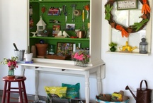 Potting Benches and Sheds / Inspiration for potting benches and sheds.