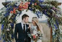 ceremony décor. / Whether it's in a church, on a beach or in your parent's backyard, here's some inspiration for dolling up (or down) your ceremony space