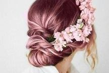 wedding hair. / Up or down, long or short, pink or brown. We've got hair styles that'll make you swoon.