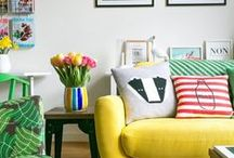 Colorful+homes / We all love the pottery barn neutral colors room, we do--I DO! However In my mind inspirations comes from Color and uniqueness so here are a few things I love!