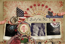 Patriotic Scrapbook Layouts and Cards / by Lyn Schmidt