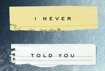 Everything I Never Told You, by Celeste Ng / Pins that inspired--or relate to--Celeste Ng's debut novel, EVERYTHING I NEVER TOLD YOU (on sale June 27, 2014!).