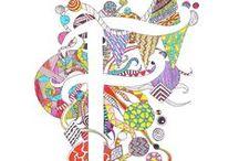 Alfabet zentangles / Een andere kijk op ons alfabet in zentangles, mijn creatieve uitdaging voor 2015.
