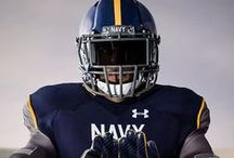 Navy Midshipmen Football Gear / Get your new football gear!  Be the first to own great styles such as the Under Armour limited edition Navy Midshipmen tees, pullovers and football jerseys! Shop for the whole family.  Go #Navy Beat Army! #/Rivalry