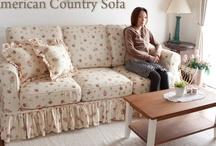 country sofa カントリーソファー / モームオリジナルインテリアのセミオーダーできるカントリータイプのカバーリングソファー http://www.momu-shop.jp/sofa/covering/ / by Original design momu K.Isagawa