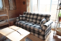 Customer's photograph(country sofa) / It is an image of the country sofa that the customer is actually using.  お客様が実際に使っているカントリーソファーの画像です / by Original design momu K.Isagawa