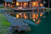 My Dream Log Cabins Inside/Outside / This board is about what my dream log cabin and it's living space would look like. Maybe a log cabin in the woods or on the lake for a vacation getaway.  / by Linda Lambert