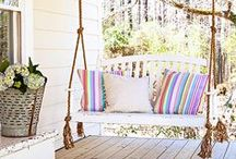 Porches and Patios / Porches, patios, and decks, for the perfect space to kick back on those hot summer evenings.