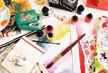 Artist Desk ~ Artist at work ~ Workspace