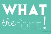 Fonts / by Suzetta Waterhouse