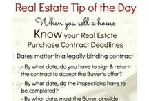 Real Estate Tip Of The Day / Here you will find top tips for real estate buyers and sellers.