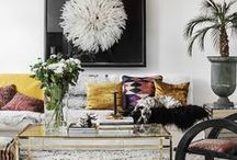 Living Room / Decoration, living rooms, eclectic decor, colonial, boho interiors